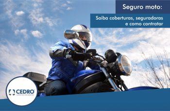 Seguro moto: saiba coberturas, seguradoras e como contratar