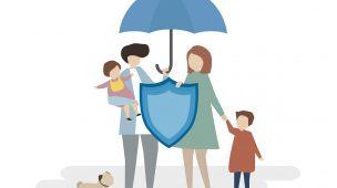 Familia com seguro de vida